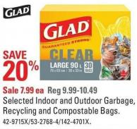 Glad Selected Indoor and Outdoor Garbage - Recycling and Compostable Bags