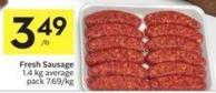 Fresh Sausage 1.4 Kg Average Pack