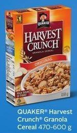 Quaker Harvest Crunch Granola Cereal