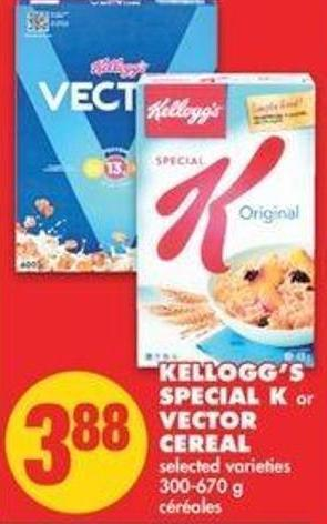 Kellogg's Special K Or Vector Cereal - 300-670 G