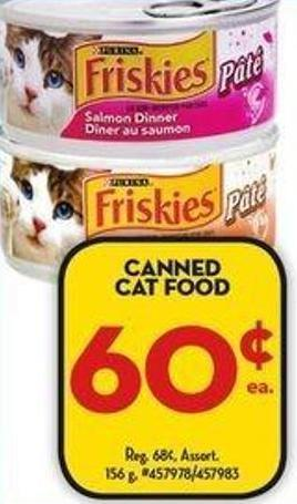 Friskies Canned Cat Food Coupons