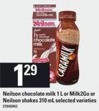 Neilson Chocolate Milk 1 L Or Milk2go Or Neilson Shakes 310 Ml