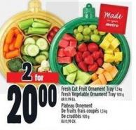 Fresh Cut Fruit Ornament Tray 1.3 Kg