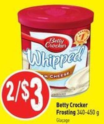 Betty Crocker Frosting 340-450 g