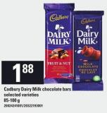 Cadbury Dairy Milk Chocolate Bars - 85-100 g