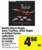 Nestlé Black Magic - Aero Truffles - After Eight Or Kitkat Sense Collection Chocolate Or Candy.126-300 g