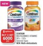 Centrum Multigummies Vitamins 90's - 130's