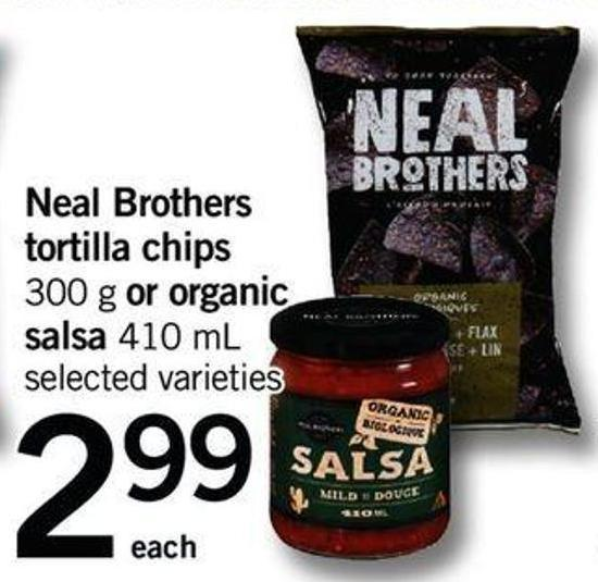 Neal Brothers Tortilla Chips - 300 G Or Organic Salsa - 410 Ml