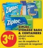 Ziploc Storage Bags & Containers - 10-90's
