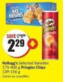 Kellogg's Selected Varieties 175-400 g Pringles Chips 139-156 g