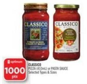 Classico Pizza (410ml) or Pasta Sauce