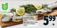 Fresh Whole Ontario Rainbow Trout Fillets