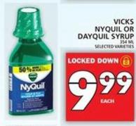 Vicks Nyquil Or Dayquil Syrup