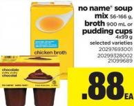 No Name Soup Mix - 56-166 g - Broth - 900 mL Or Pudding Cups - 4x99 g
