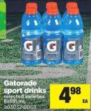 Gatorade Sport Drinks - 6x591 Ml