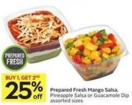 Prepared Fresh Mango Salsa - Pineapple Salsa or Guacamole Dip