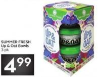 Summer Fresh Up & Oat Bowls 3 Pk