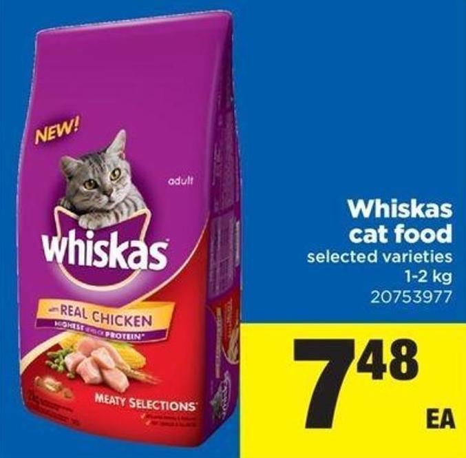 Whiskas Cat Food - 1-2 Kg