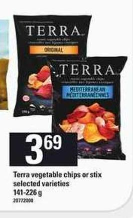 Terra Vegetable Chips Or Stix - 141-226 G