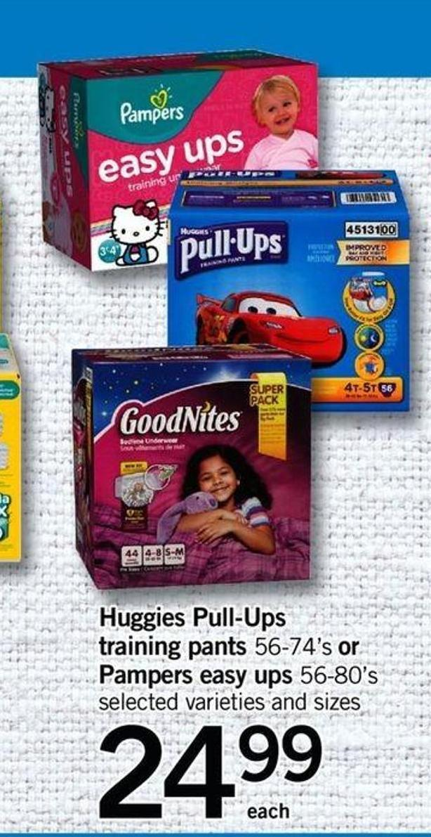 Huggies Pull-ups Training Pants 56-74's Or Pampers Easy Ups 56-80's