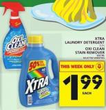 Xtra Laundry Detergent Or Oxi Clean Stain Remover