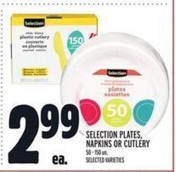 Selection Plates - Napkins or Cutlery
