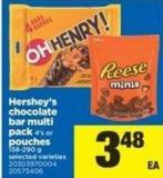 Hershey's Chocolate Bar Multi Pack - 4's Or Pouches - 138-290 g
