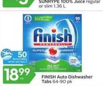Finish Auto Dishwasher Tabs - 50 Air Miles