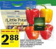 Sweet Assorted Peppers Or The Little Potato Company Fresh Creamer Potatoes