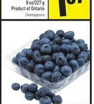 Blueberries Product of USA No. 1 Grade 170 g