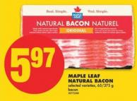 Maple Leaf Natural Bacon - 65/375 g