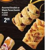 Assorted Strudels Or Maple Pecan Danish - 4-pack
