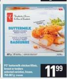 PC Buttermilk Chicken Fillets - Breast Or Tenders - 750-907 g