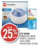 Life Brand Humidifier - Nasal Spray or Cough & Cold Liquid