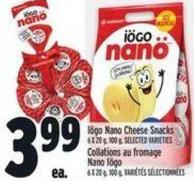 Iögo Nano Cheese Snacks 6 X 20 g - 100 g