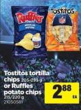 Tostitos Tortilla Chips - 205-295 G Or Ruffles Potato Chips - 215/220 G