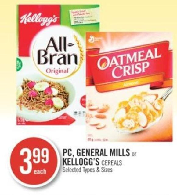 PC - General Mills or Kellogg's Cereals