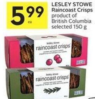 Lesley Stowe Raincoast Crisps Product of British Columbia Selected 150 g