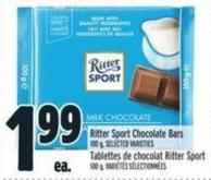 Ritter Sport Chocolate Bars 100 g