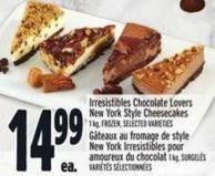 Irresistibles Chocolate Lovers New York Style Cheesecakes 1 Kg