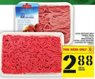 Lean Ground Beef Family Pack Or Irresistibles Extra Lean Ground Chicken Or Turkey