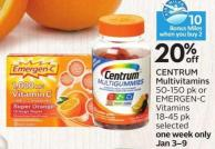 Centrum Multivitamins - 10 Air Miles Bonus Miles