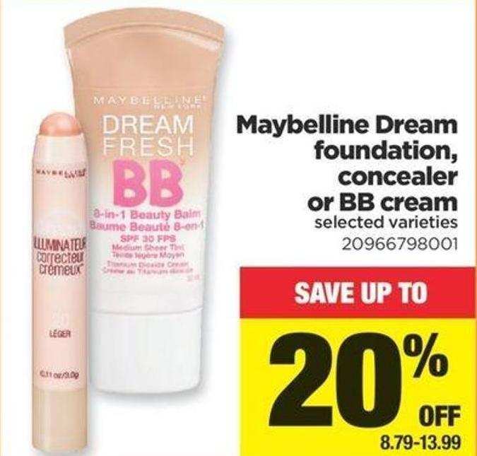 Maybelline Dream Foundation - Concealer Or Bb Cream