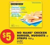 No Name Chicken Burger - Nuggets or Strips - 908 g