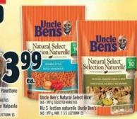 Uncle Ben's Natural Select Rice 365 - 397 g
