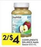 Compliments Balance Apple Sauce