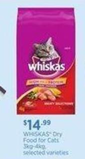 Whiskas Dry Food For Cats - 3kg-4kg