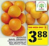Seedless Navel Oranges Or Red Grapefruit