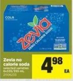 Zevia No Calorie Soda - 6x335/355 mL