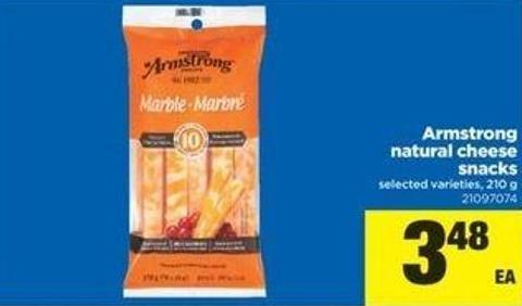 Armstrong Natural Cheese Snacks - 210 g